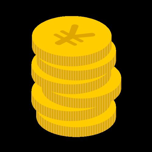 お金(硬貨多め)