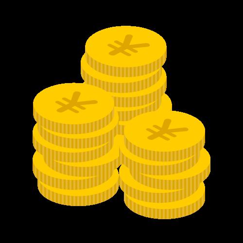 お金(硬貨大量)の無料アイコン・イラスト素材