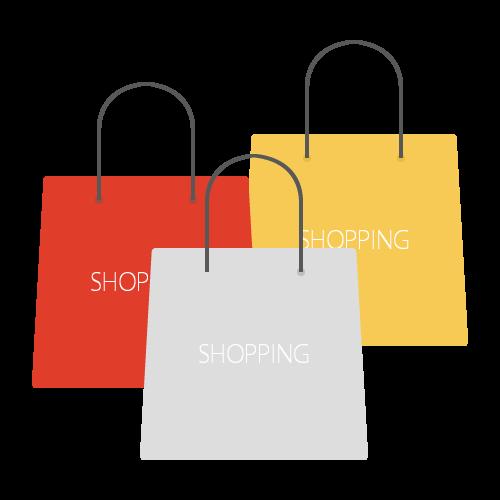 ショッピングバッグの無料アイコン・イラスト素材