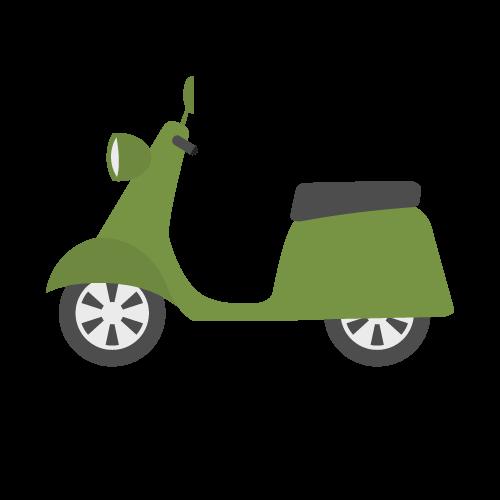 バイク(スクーター)の無料アイコン・イラスト素材