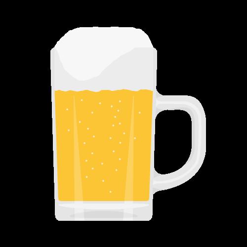 ビール(ジョッキ)の無料アイコン・イラスト素材