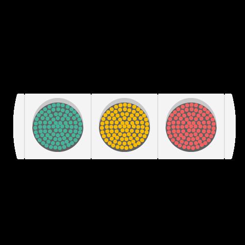 信号機(車両)のアイコン・イラスト