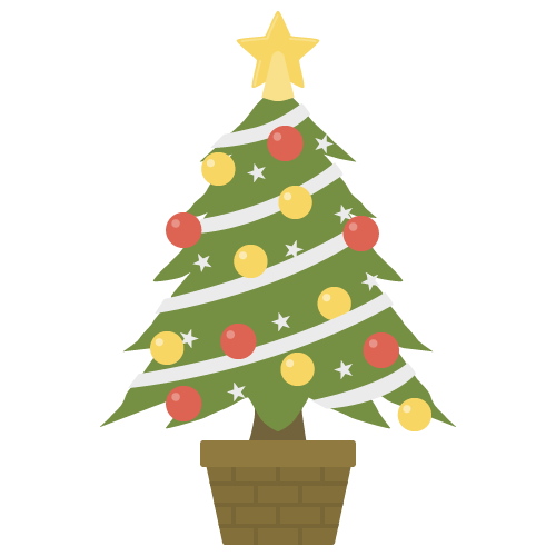 クリスマスツリーの無料アイコン・イラスト素材
