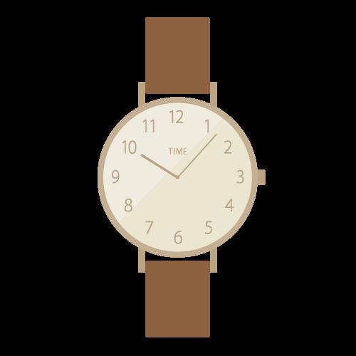 腕時計(茶)の無料アイコン・イラスト素材