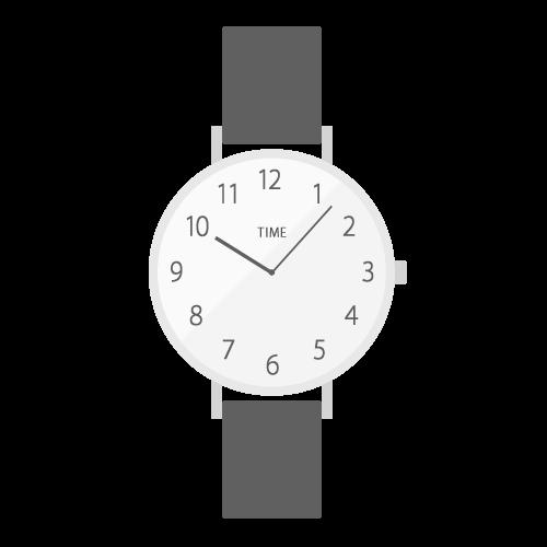 腕時計(黒)の無料アイコン・イラスト素材