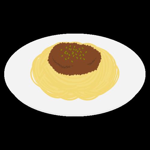 スパゲッティミートソースの無料アイコン・イラスト素材