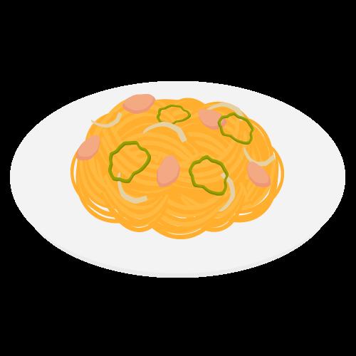 スパゲッティーナポリタンの無料アイコン・イラスト素材