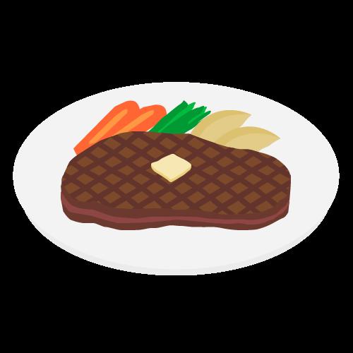 ステーキの無料アイコン・イラスト素材