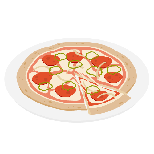 ピザの無料アイコン・イラスト素材