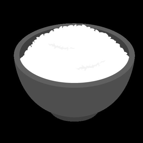 ご飯・白米・お米の無料アイコン・イラスト素材
