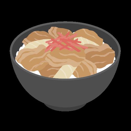 牛丼のアイコン・イラスト