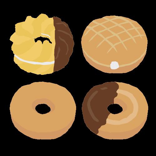 ドーナツのアイコン・イラスト