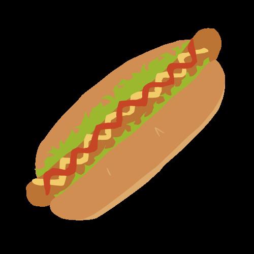 ホットドッグの無料アイコン・イラスト素材