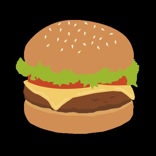 ハンバーガーの無料アイコン・イラスト素材