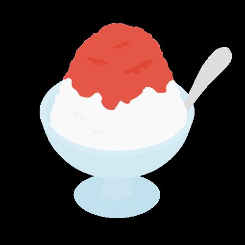 かき氷の無料アイコン・イラスト素材