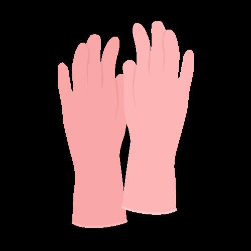 ゴム手袋の無料アイコン・イラスト素材
