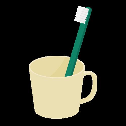 歯ブラシとコップの無料アイコン・イラスト素材