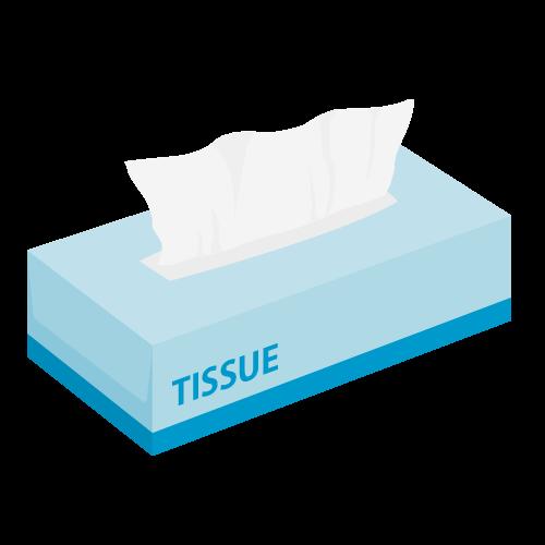 ティッシュペーパーの無料アイコン・イラスト素材