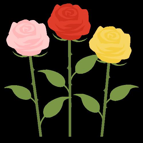 バラ(薔薇)の無料アイコン・イラスト素材