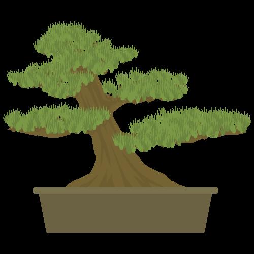 盆栽のイラスト・アイコン