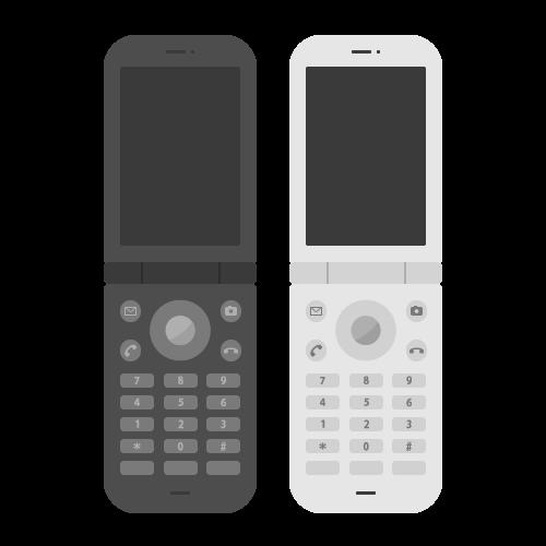 携帯電話(ガラケー)の無料アイコン・イラスト素材