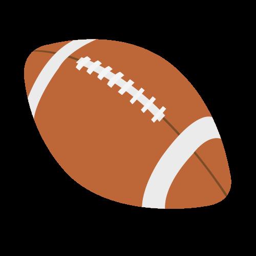 アメフトボールの無料アイコン・イラスト素材
