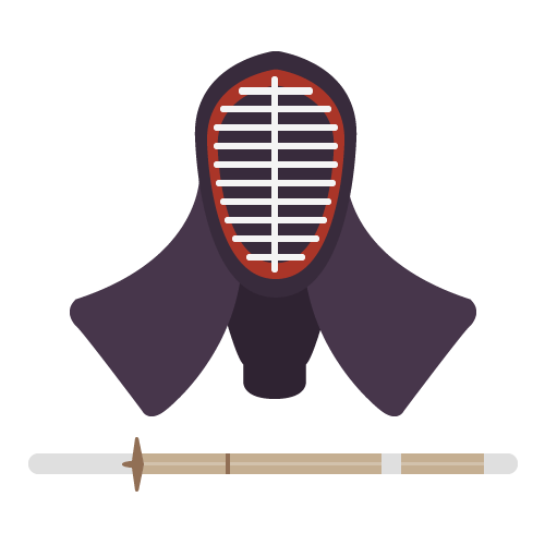 剣道の無料アイコン・イラスト素材