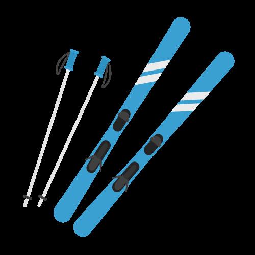 スキーのアイコン・イラスト