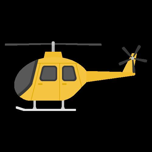 ヘリコプターの無料アイコン・イラスト素材