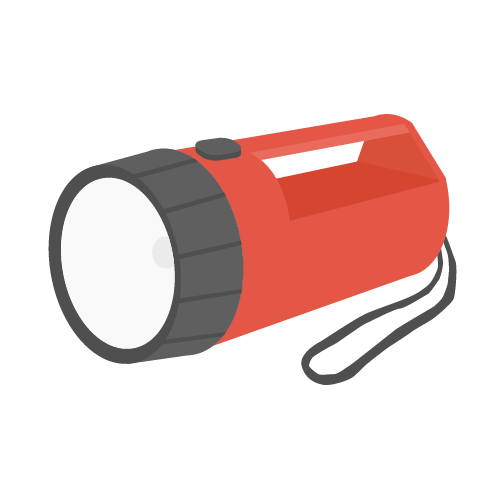 懐中電灯の無料アイコン・イラスト素材