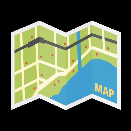 地図・マップの無料アイコン・イラスト素材