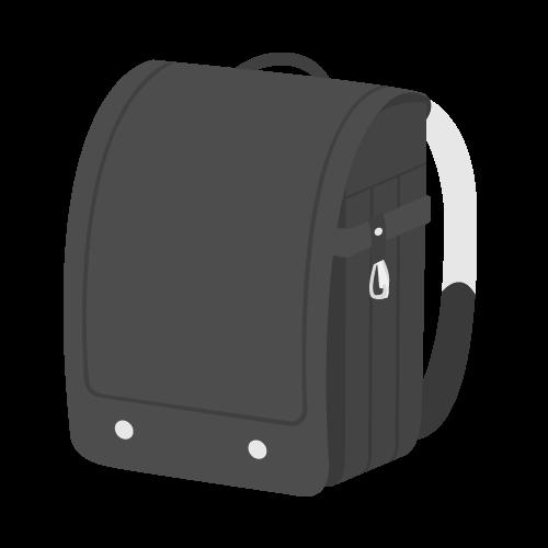 ランドセル(黒)の無料アイコン・イラスト素材