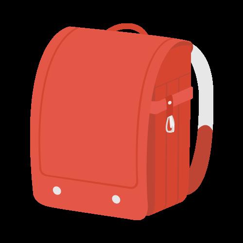 ランドセル(赤)の無料アイコン・イラスト素材