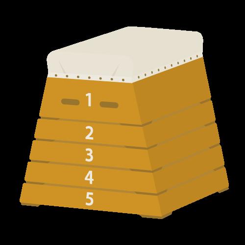 跳び箱の無料アイコン・イラスト素材