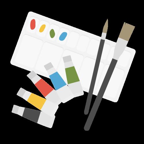 絵具の無料アイコン・イラスト素材