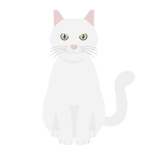 猫(白猫)の無料アイコン・イラスト素材