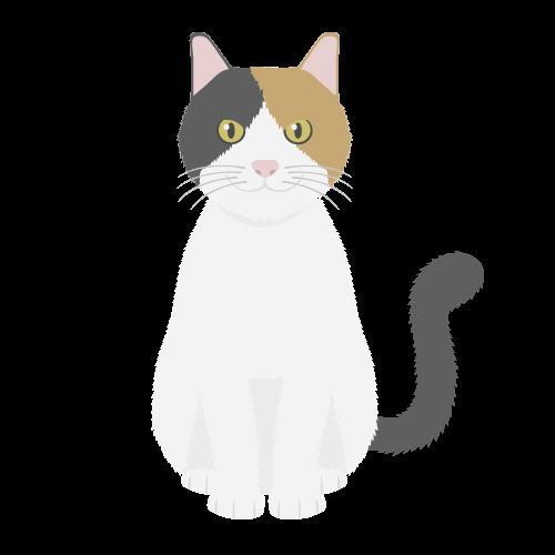 猫(三毛猫)の無料アイコン・イラスト素材