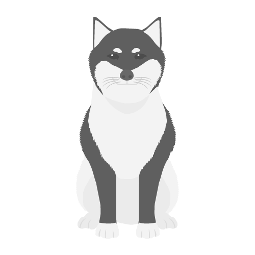 犬(黒柴)の無料アイコン・イラスト素材