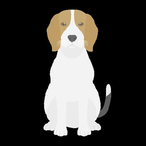 犬(ビーグル)のアイコン・イラスト