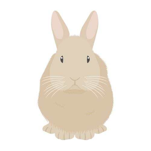 ウサギ(茶)の無料アイコン・イラスト素材