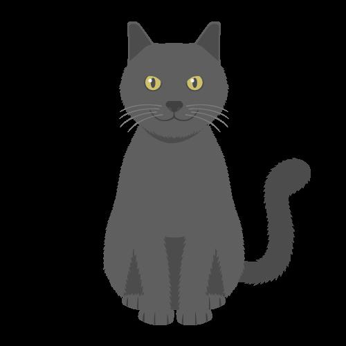 猫(黒)の無料アイコン・イラスト素材