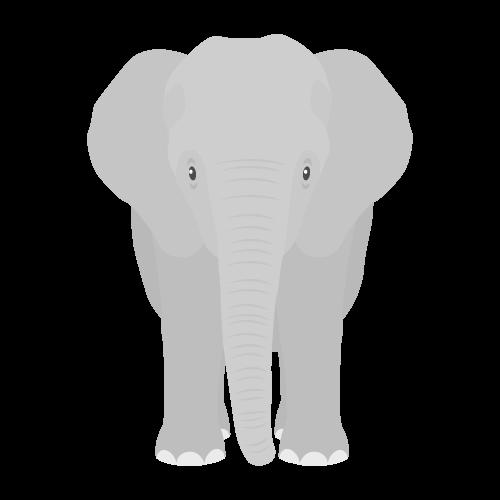 ゾウの無料アイコン・イラスト素材