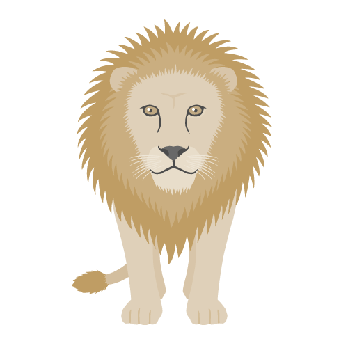 ライオンの無料アイコン・イラスト素材