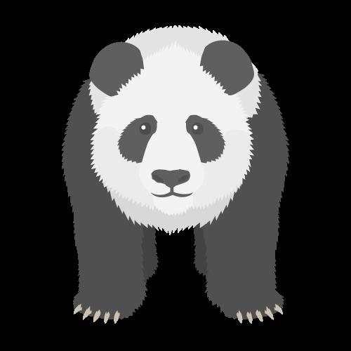 パンダのアイコン・イラスト