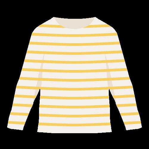 長袖Tシャツ(ロンT)の無料アイコン・イラスト素材