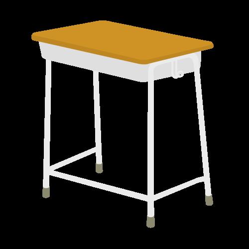 教室の机の無料アイコン・イラスト素材