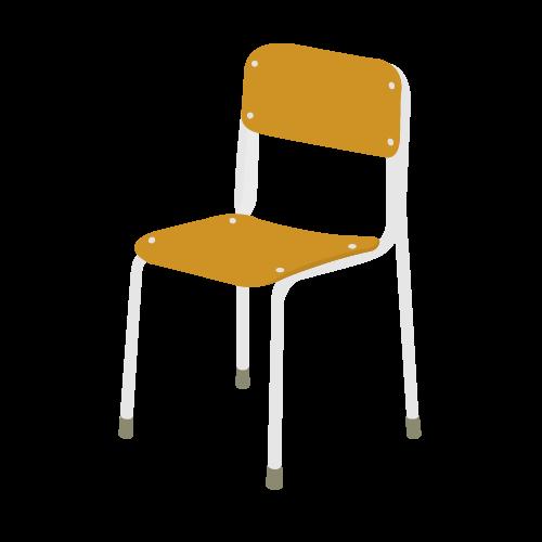 教室のイスの無料アイコン・イラスト素材