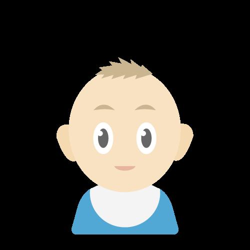 人物(赤ちゃん/男の子)の無料アイコン・イラスト素材