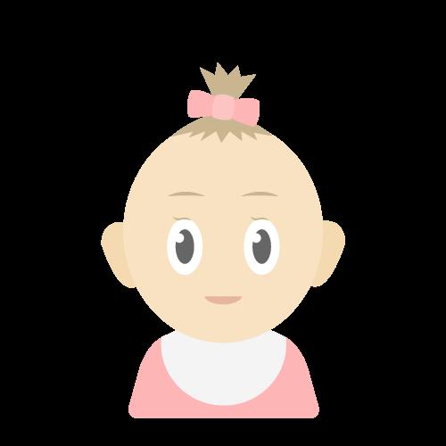 人物(赤ちゃん/女の子)の無料アイコン・イラスト素材