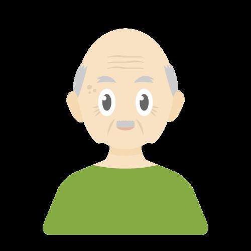 人物(老人/男性)の無料アイコン・イラスト素材